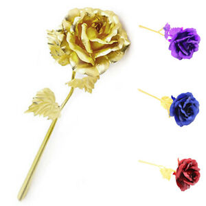 Handmade-24k-Gold-Foil-Rose-Flower-Birthday-Mother-Valentine-039-s-Day-Wedding-Gift