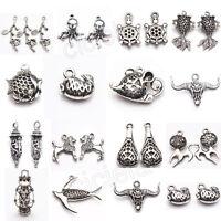 Wholesale Lots Bulk Lots Tibetan Silver Mix Pendants Charms DIY Making 15 Style