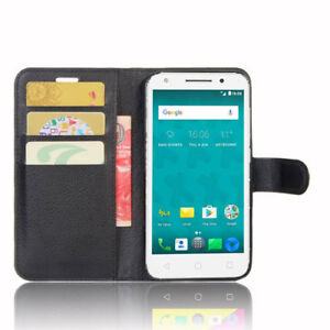 quality design e0902 54eb5 Details about HQ Wallet Money Card Leather Case Cover for Optus X Spirit +  FREE Stylus