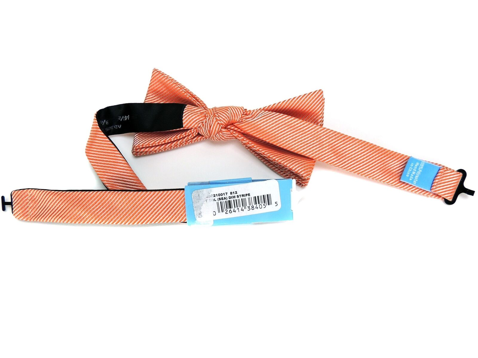 Countess Mara Bow Tie Pink or Orange Pink Blue Dim Stripe Pre-Tied