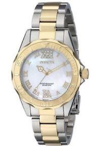 New-Ladies-Invicta-17871-Pro-Diver-38mm-Swiss-Quartz-Two-Tone-Watch