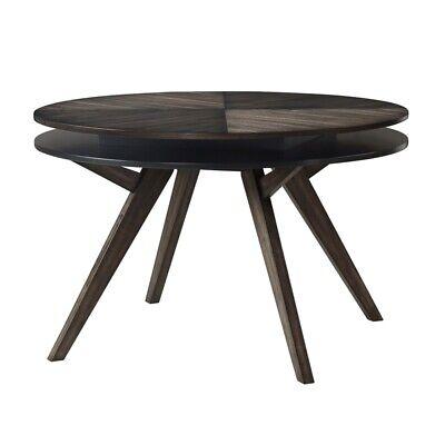 Alpine Furniture Lennox Round Wood Dining Table In Dark Tobacco Brown 840108500091 Ebay