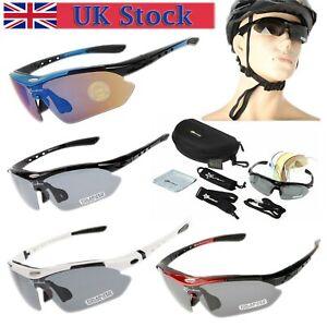 6215fa321e1 Image is loading UK-Unisex-Polarized-Sports-Sunglasses-Cycling-Glasses -Protection-