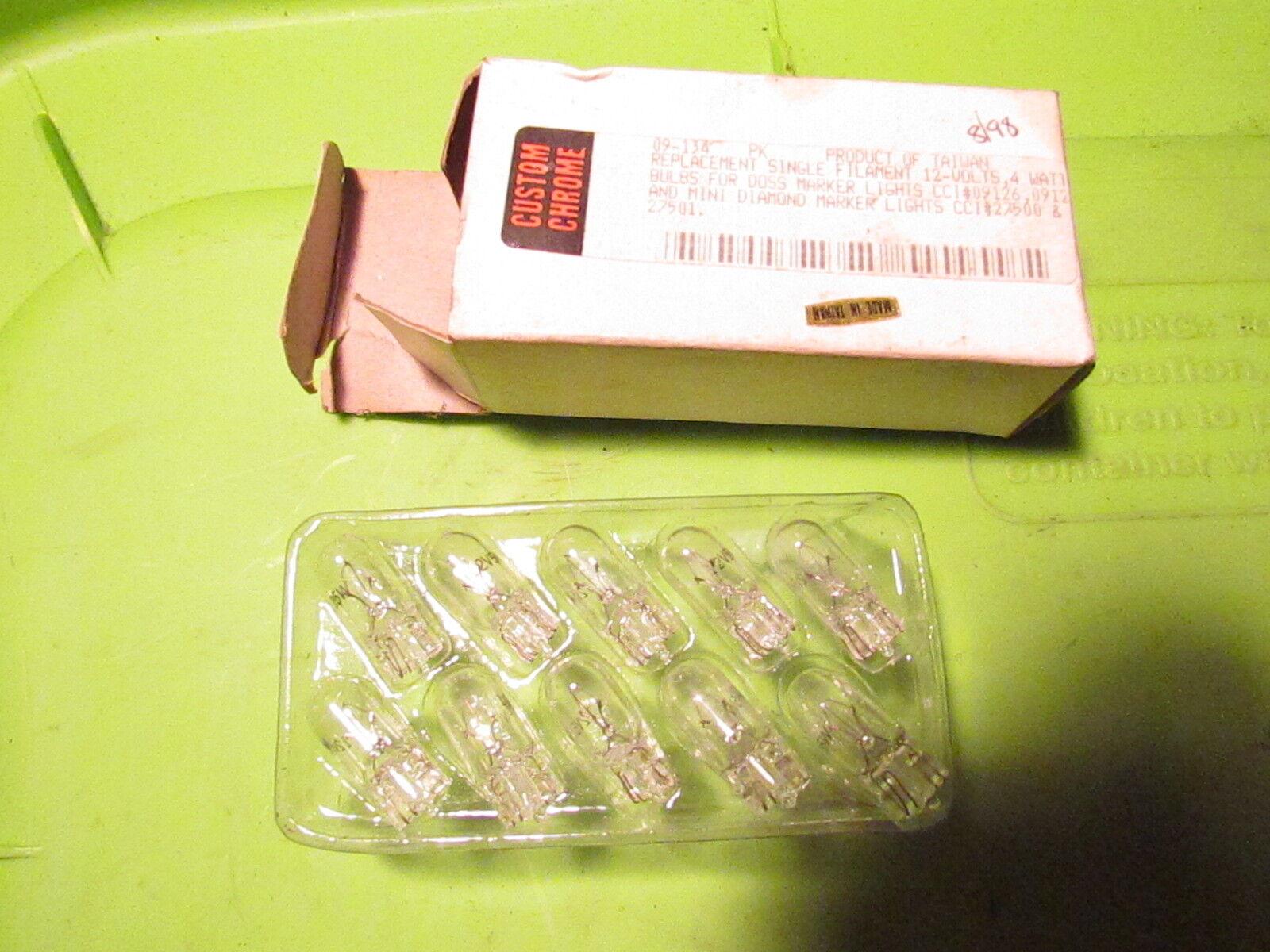 Nos Custom Chrome Marker Bulb Lot 09 134 12 V 4 W For Doss Marker 09126 27500