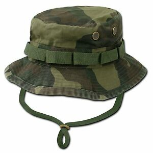 Woodland-Camo-Military-Boonie-Hunting-Army-Fishing-Bucket-Jungle-Cap-Hat-M-L-XL