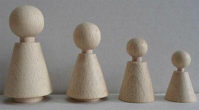 Figurenkegel, Kegelform, 60 mm hoch, Buche unlackiert, #4360