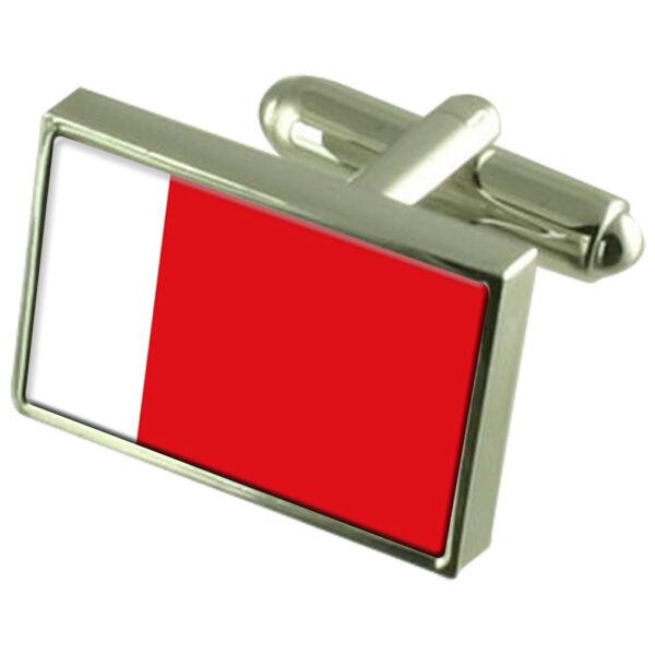 Diplomatisch Ajman Sterlingsilber Flagge Manschettenknöpfe