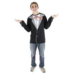 Adult Mens Totally MAD Magazine Alfred Neuman Halloween Costume Tuxedo T- Shirt