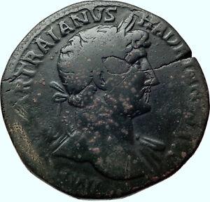 HADRIAN 134AD Rome Authentic Ancient Original Silver Roman