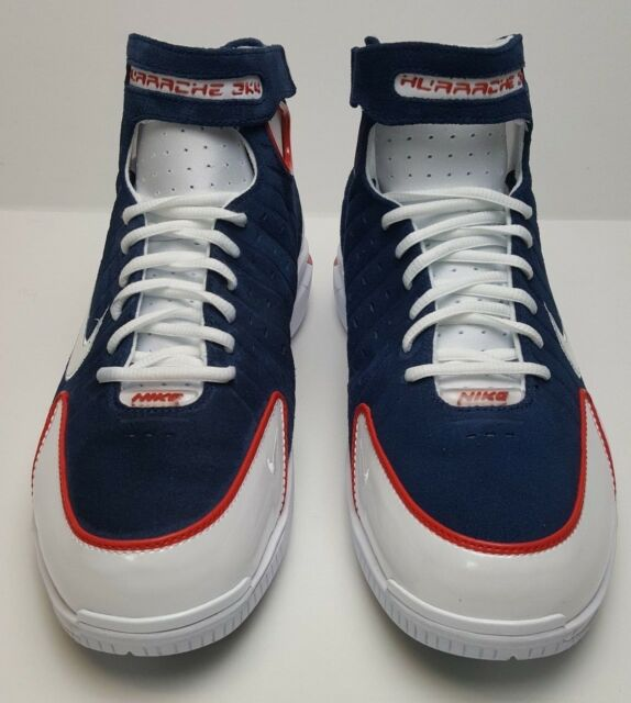 f5dbd75444c Nike Air Huarache 2K4 Navy Blue White Red USA Olympics Kobe 308475-400 Size  10.5