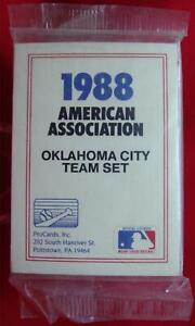1988-OKLAHOMA-CITY-89ERS-PROCARDS-MINOR-LEAGUE-TEAM-SET-TEXAS-RANGERS-TUFF