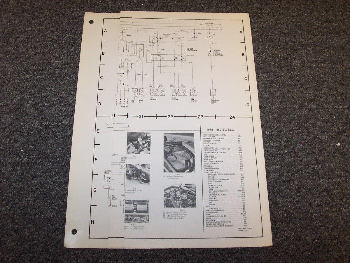 Marvelous 1975 Mercedes Benz 450Sl 450Slc Original Electrical Diagram Manual Wiring Digital Resources Remcakbiperorg