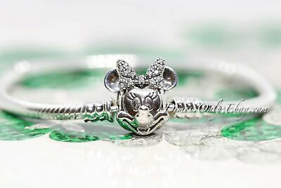 Authentic Pandora Disney Shimmering Minnie Portrait 597770CZ Silver  Bracelet | eBay