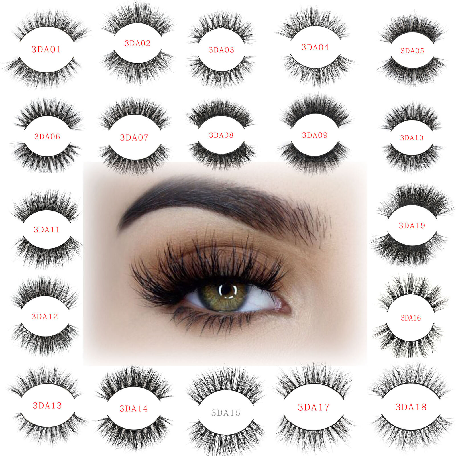3afaae2921e Details about 3D 100% Mink Eyelashes Natural Thick False Soft Eye Lashes  Makeup Extension Long