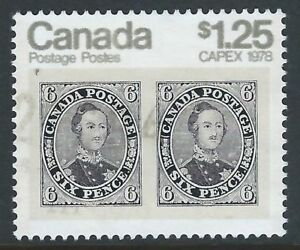 Scott-756-1-25-CAPEX-78-tagged-sheet-stamp-with-DOUBLE-PRINT-of-Silver-scarce