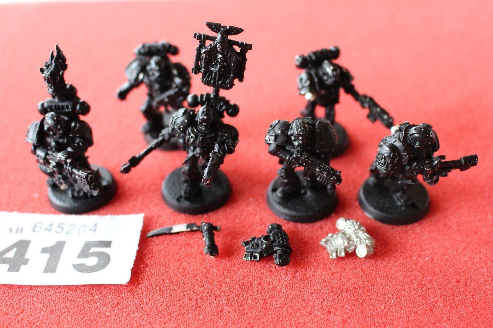Games Workshop Warhammer 40K Legion of the Damned Legionnaires Squad Metal 6 OOP