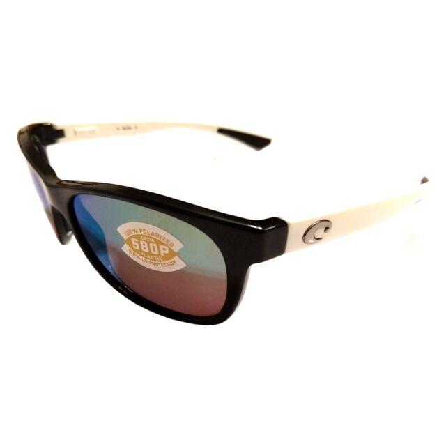 9c4a38f528 NEW Costa Del Mar Prop Sunglasses - Black   White POLARIZED Green Mirror  580P