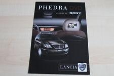 96843) Lancia Phedra Sony DVD Prospekt 200?