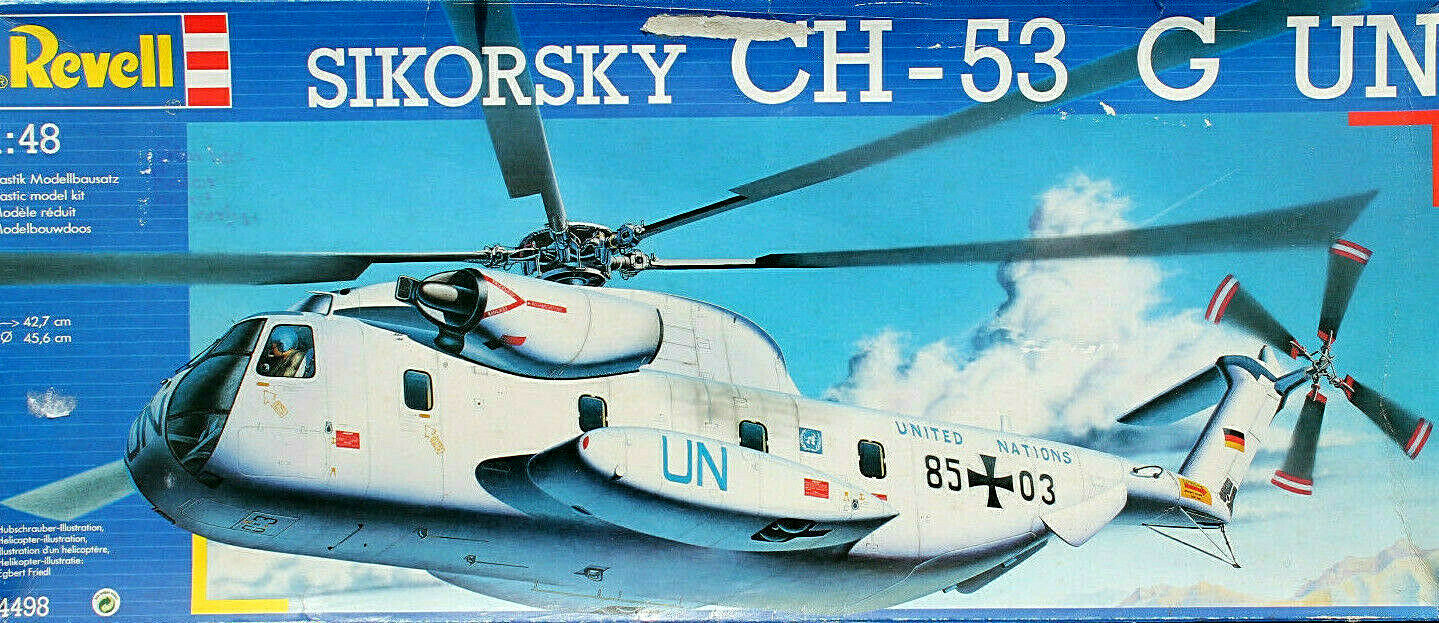 Revell 1 48  UN CH-53 G Helicopter  w  Cockpit detail Set