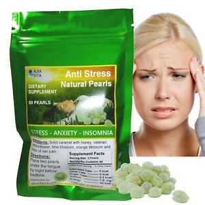 Stress Insomnia Anxiety HERBAL PEARLS SUPPLEMENT Passionflower Valerian 60 Bag