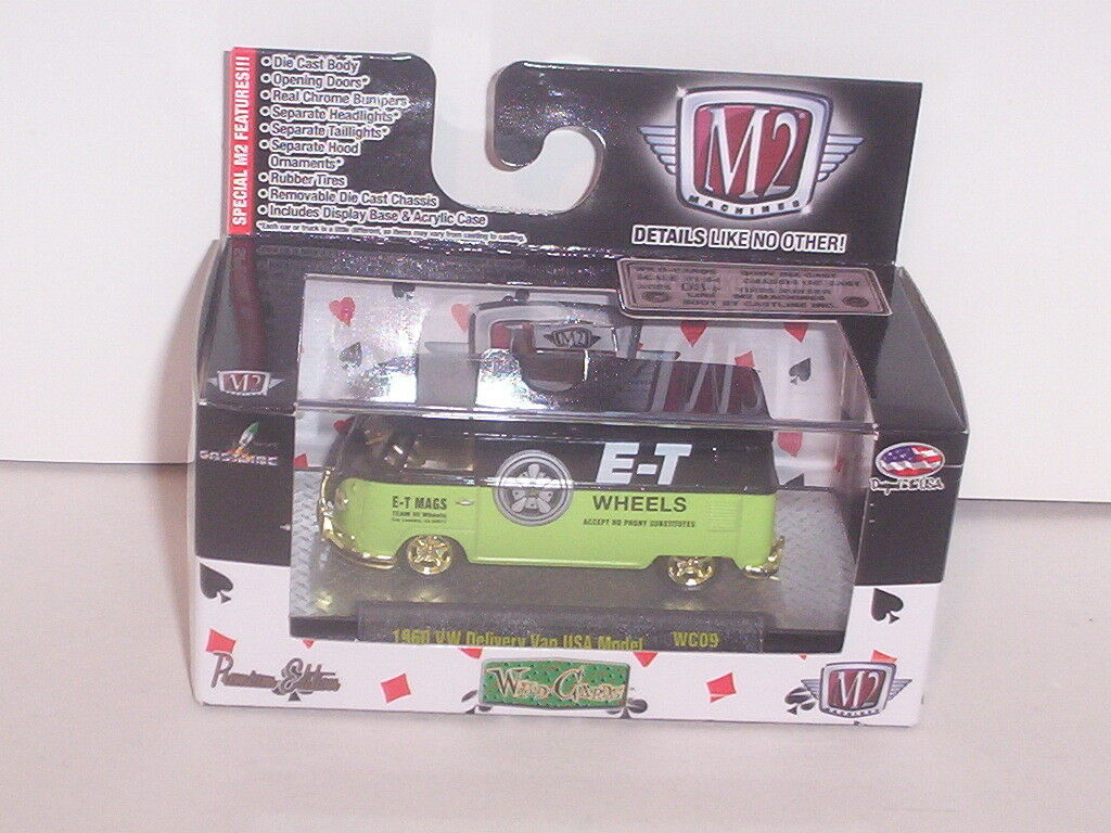 1960 '60 VW DELIVERY VAN VOLKSWAGEN BUS gold gold gold CHASE M2 1 64 DIECAST NEW IN BOX 8a0dfb