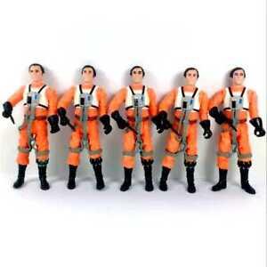 "Lot5Pcs Star Wars Hasbro 3.75/"" Dutch Vander Gold Leader A New Hope figure toy"