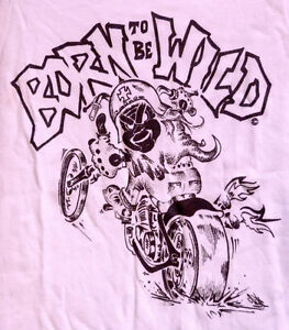Born-to-Be-Wild-Biker-Slogan-Baby-Biker-Babygrow-Pink-Clearance