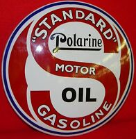 Standard Oil Steel 12 Dome Sign ....buy It Now