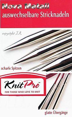 KnitPro austauschbare Nadelspitzen Nova Metall wechselbare Spitzen stricken