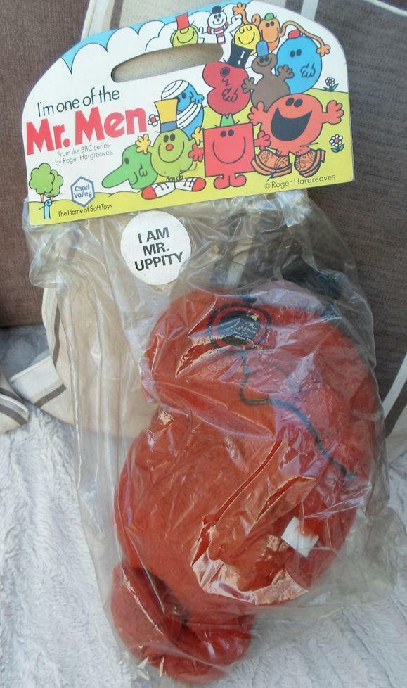 MR MEN MR UPPITY VERY RARE PLUSH 1978 BBC Roger Hargreaves Chad valley Vintage