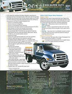 2020 Ford Super Duty Chassis Cab Color Sales Catalog Brochure Prospekt