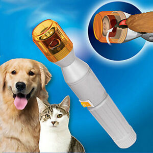 Electric-Pet-Dog-Cat-Nail-Trimmer-Tool-Grooming-Tool-Care-Grinder-clipper-Kit-AU