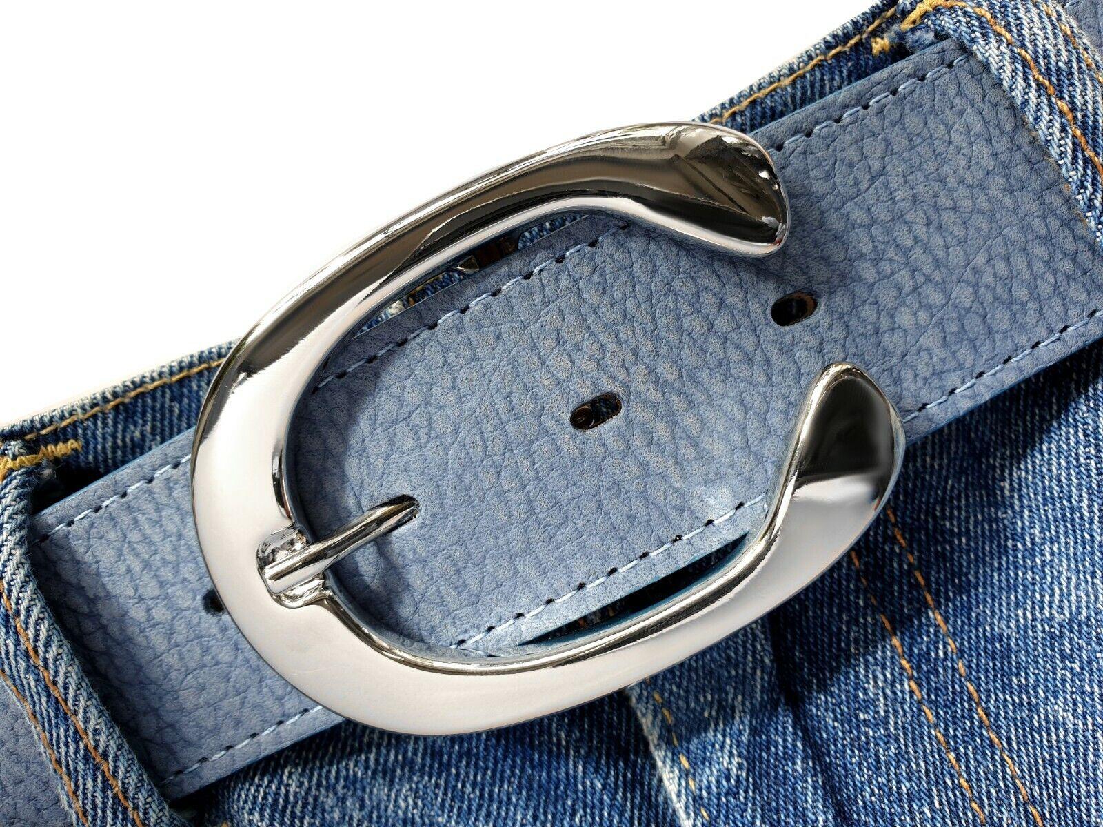 Gürtelschließe elegant buckle silber poliert Wechselschnalle 4cm C Schnalle