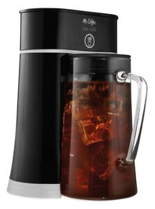 Mr Coffee Tea Cafe 2-in-1 Black Iced Tea Maker Glass ...