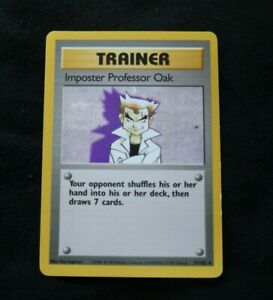 Imposter Professor Oak Rare Trainer Pokemon Card Base Set Unlimited Eng 73//102