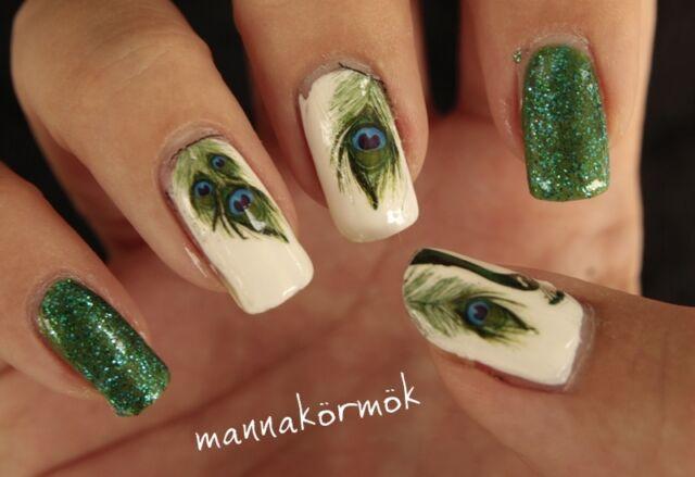 1x nagel sticker nail art tattoo aufkleber feder muster nagel design dekoration - Nagel Muster