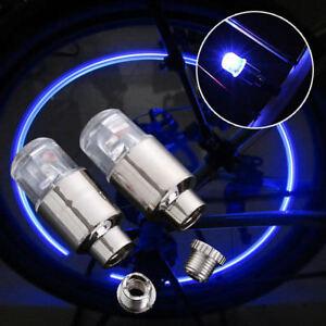 Bike Bicycle Car Wheel Tyre Tire Valve Cap LED Neon Dust Spoke Flash Lamp Light
