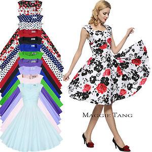 Maggie-Tang-50er-60er-Jahre-Rockabilly-Cocktail-Abendkleid-Party-Kleider