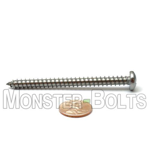 "#14 x 3/"" Stainless Steel Phillips Pan Head Self-Tapping Sheet Metal Screws"