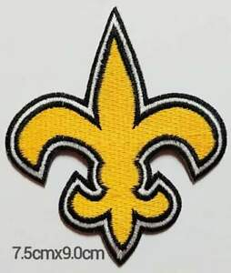 The New Orleans Saints Team Logo Iron// Sew-On Embroidered Patch Shorts Badge