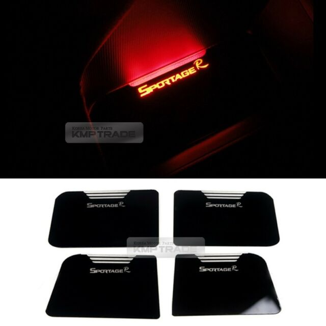 Red LED Door Inner Pocket Acrylic Gloss Plate for KIA 2011 - 2015 Sportage R