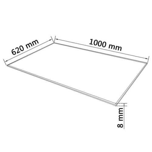 Tischplatte Klarglas Glasscheibe für Glastisch Kamin Glasboden Glasscheibe NEU