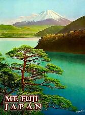 Japan Mt. Mount Fuji Peerless Japanese Asia Asian Travel Advertisement Poster