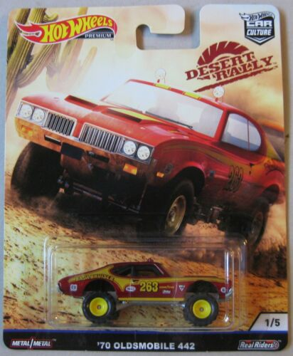 Hot Wheels Car Culture Desert Rally /'70 OLDSMOBILE 442 1//5 Real Riders