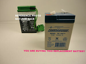 PEG PEREGO  TYPE, NEW REPLACEMENT BATTERY 6 VOLT 4.5 AH *NEW*  NO WIRES OR PLUG