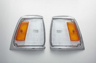 88-97 Toyota Hilux LN100 5th gen 2WD Pair chrome corner light Indicator NEW 1992