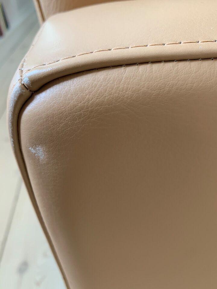 Sofa, læder, 2 pers.
