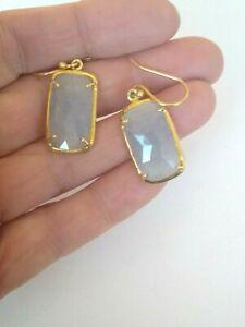 Graue-Saphir-Ohrringe-925-Silber-vergoldet