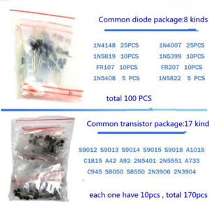 1390pcs-Lot-Electronic-Components-LED-Diode-Transistor-Capacitor-Resistance-Part