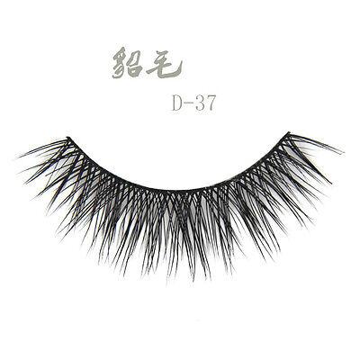 NEW ID-37 1 pair 100% Real Mink Hair Natural Cross False eyelashes eye lashes